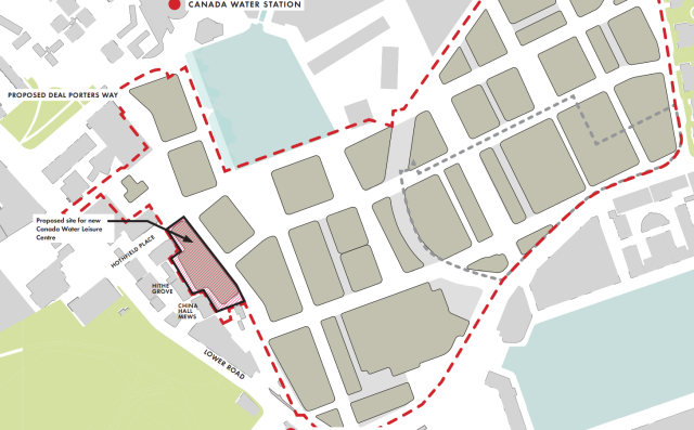 Proposed site of leisure centre
